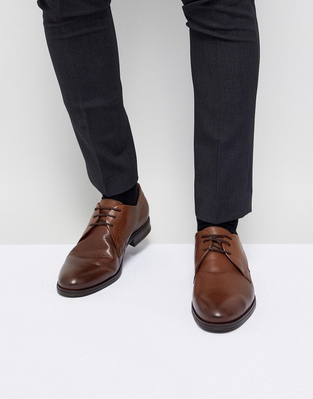 Jack&Jones Leather Derby Shoes - Brown