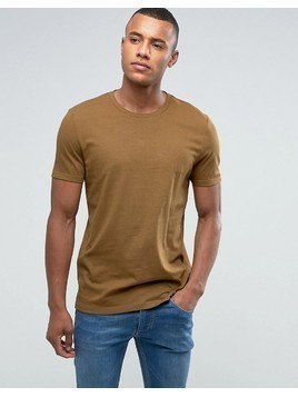 ASOS T-Shirt With Crew Neck In Green - Green