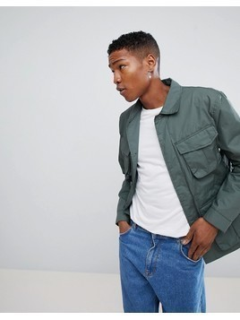 Weekday Keith Pocket Utility Jacket - Green