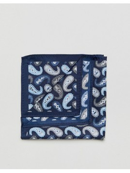 ASOS Paisley Pocket Square in Navy - Navy