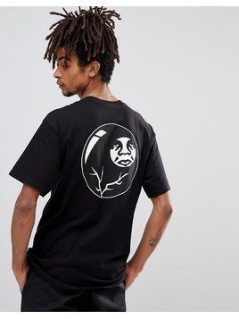 Obey T-Shirt With 8 Ball Icon Back Print In Black - Black