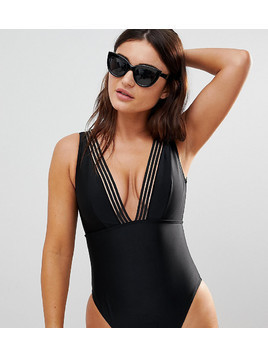 Wolf & Whistle Fuller Bust Cut Out Swimsuit DD-G - Black