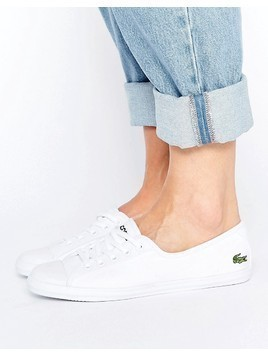 Lacoste Ziane Canvas Plimsoll Trainers - White
