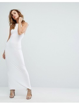 Boohoo Halterneck Maxi Dress - White