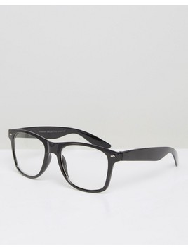7X Square Sunglasses In Black - Black