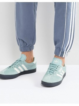 adidas Originals Gazelle Trainers In Green CQ2796 - Green