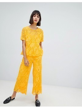 In Wear Sabri Lace Cropped Trousers - Yellow