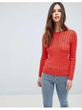 Polo Ralph Lauren Classic Cable Knit Jumper - Red
