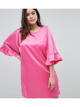 Junarose Ruffle Sleeve Shift Dress - Pink