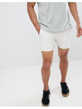 River Island Linen Shorts In Stone - Stone