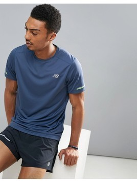 New Balance Running Impact T-Shirt In Navy MT63223VTI - Navy