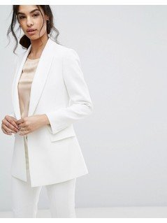 Reiss Rox Tailored Tux Jacket - White
