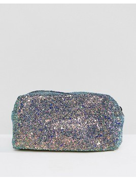 Pimkie Mermaid Glitter Makeup Bag - Blue