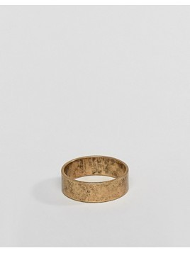 ASOS Ring In Burnished Gold - Gold