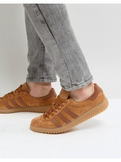 adidas Originals Bermuda Trainers In Brown - Brown