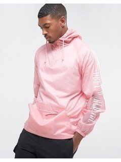 Obey Overhead Jacket With Sleeve Print - Pink