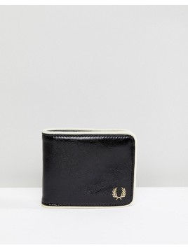Fred Perry Classic Billfold Piping Wallet in Black - Black