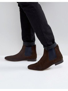 KG By Kurt Geiger Suede Chelsea Boots - Tan