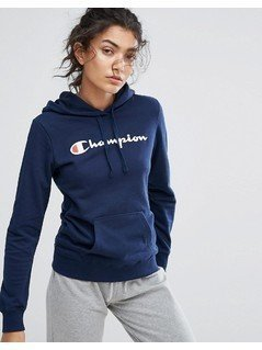 Champion Hooded Sweatshirt - Navy