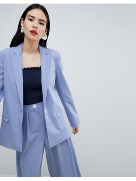 ASOS DESIGN tailored blazer with contrast button - Blue