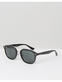Ray-Ban Wayfarer Sunglasses with Silver Double Brow 0RB2183 - Black