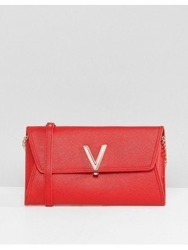 Valentino by Mario Valentino Foldover Clutch Bag in Red - Red