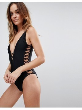 Boux Avenue Madrid Swimsuit - Black