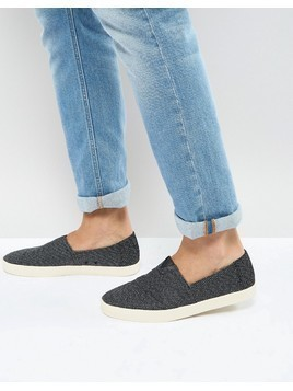 TOMS Avalon Plimsolls In Black - Black