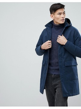 Selected Homme Long Parka - Navy