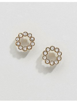 Dyrberg Kern Brass Gold Stud Earrings - Gold