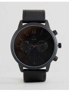 ASOS Watch In Black With Roman Numerals - Black