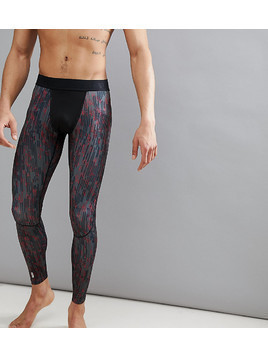 FIRST Running Base Layer Tights In All Over Print - Red