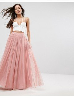ASOS Tulle Maxi Prom Skirt - Pink