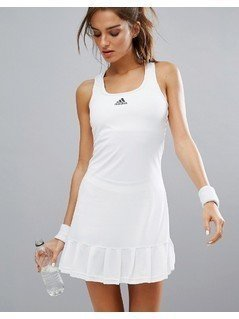 adidas Tennis Dress With Shorts - White