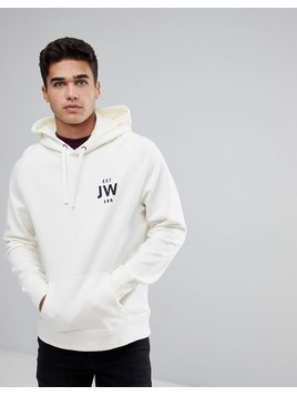 Jack Wills Batsford JW Popover Hoodie In Off White - White