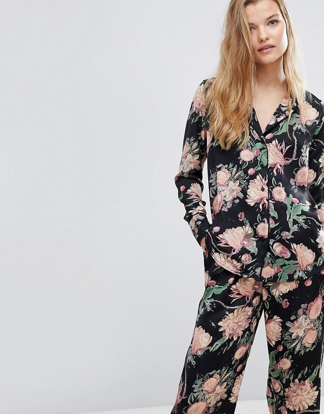 Y.A.S Co-Ord Bloom Print Pyjama Shirt - Multi