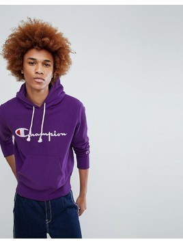 Champion Hoodie With Large Logo In Purple - Purple