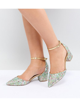 ASOS DESIGN Sizzle Wide Fit Embellished Mid Heels - Multi