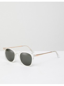 AJ Morgan Round Sunglasses In Clear - Clear
