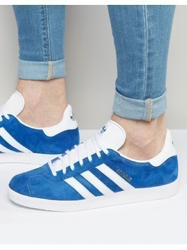 adidas Originals Gazelle Trainers In Blue S76227 - Blue