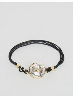Ted Baker Crystal Button Cord Bracelet - Black