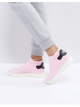 adidas Originals Pink Stan Smith Primeknit Sock Trainers - Pink