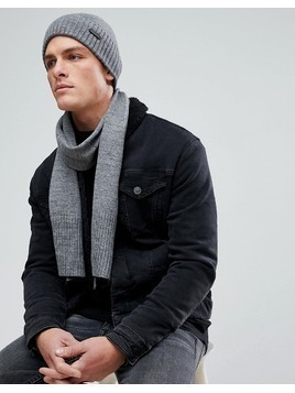 Ben Sherman Hat And Scarf Set - Grey
