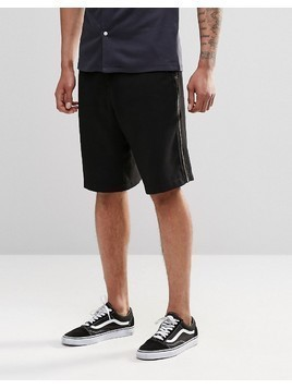 ASOS Drop Crotch Tailored Shorts With Zips - Navy