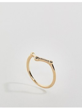 ASOS Abstract Ball Thumb Ring - Gold