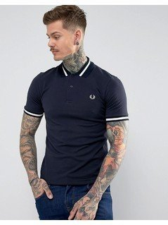 Fred Perry REISSUES Tipped Polo Shirt in Navy - Navy