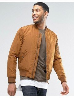 New Look MA1 Bomber In Tan - Beige