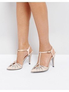True Decadence T-Bar Heeled Shoes - Gold