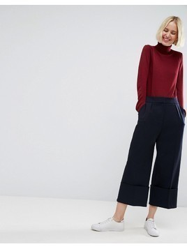 ASOS Tailored Deep Hem Culotte - Navy
