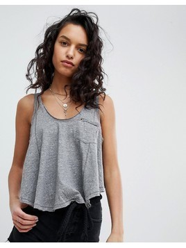 Free People Stevie Relaxed Vest - Grey